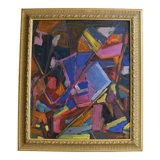 Juan Pepe Guzman Abstract Contemporary Oil Painting For Sale