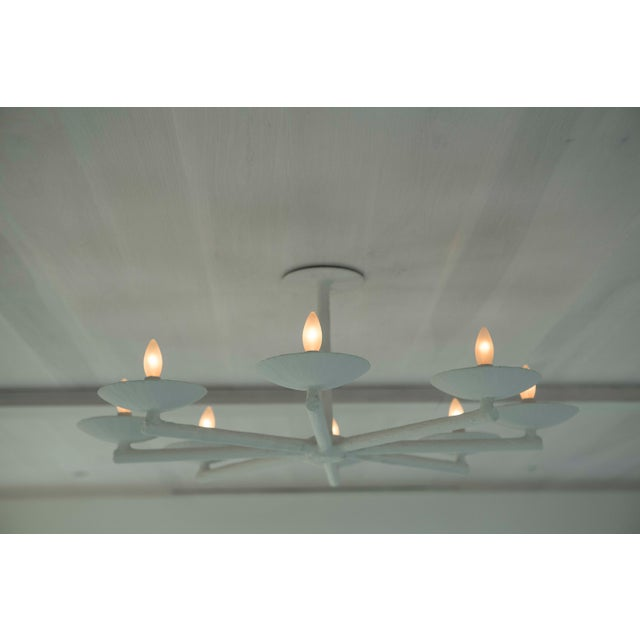 Plaster Spoke Chandelier With White Finish For Sale - Image 10 of 11