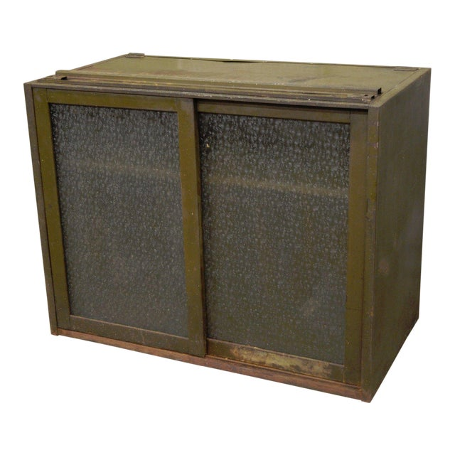 Remington Rand Industrial Green Steel Metal Stacking Barrister Storage Cabinet A For Sale