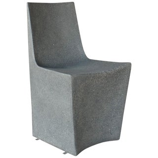 Cast Resin 'Stone' Dining Chair, Gray Stone Finish by Zachary A. Design For Sale