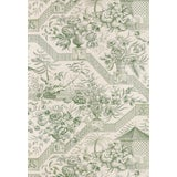 Image of Schumacher Colonial Williamsburg Collection Chinoiserie Asian Toile Jade Green Color Wallpaper - 4 Double Rolls For Sale