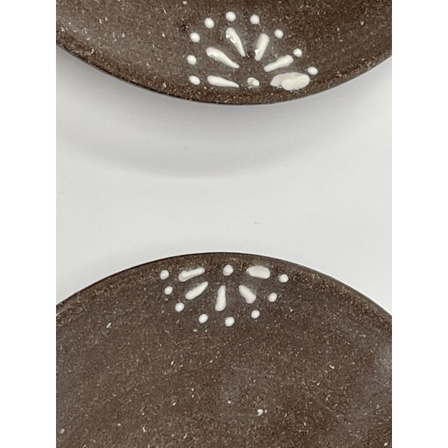 Hand Made Earthenware Lizella Clay Accent Soap Dish Small Accent Plates - a Pair For Sale - Image 4 of 7