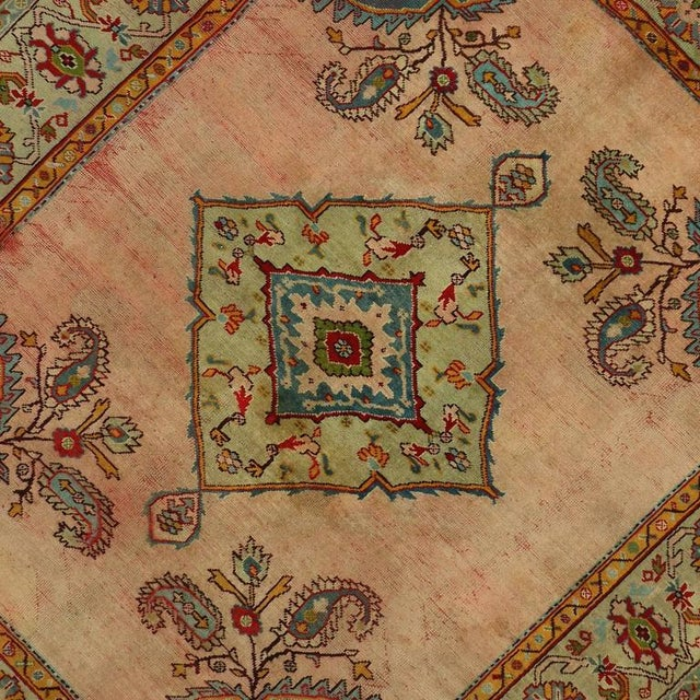 Antique Turkish Oushak Rug with Modern Style For Sale - Image 4 of 7