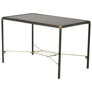 1950's Vintage Italian Wood and Steel Coffee Table For Sale
