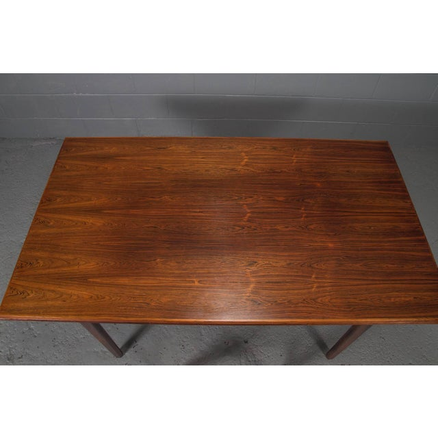 Danish Modern Rosewood Extension Dining Table For Sale - Image 9 of 11