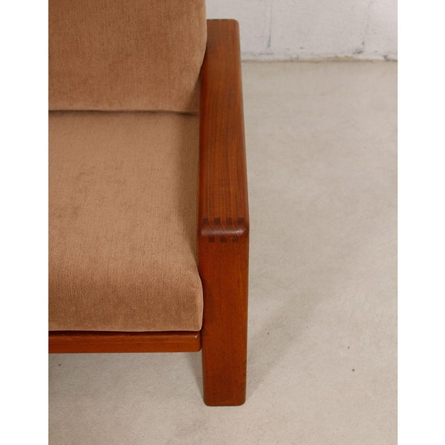 Vintage Teak Loveseat with New Upholstery - Image 9 of 10