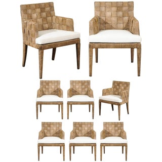 Magnificent Set of Eight Block Island Dining Chairs by John Hutton for Donghia For Sale