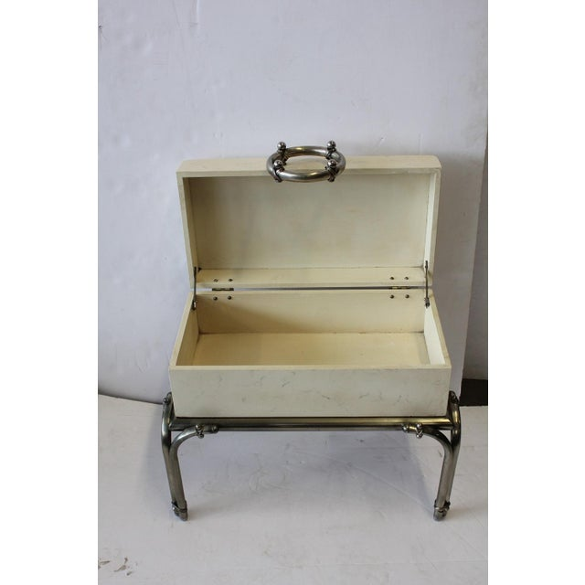 Mid-Century Modern 1970's Vintage Box On Stand For Sale - Image 3 of 3