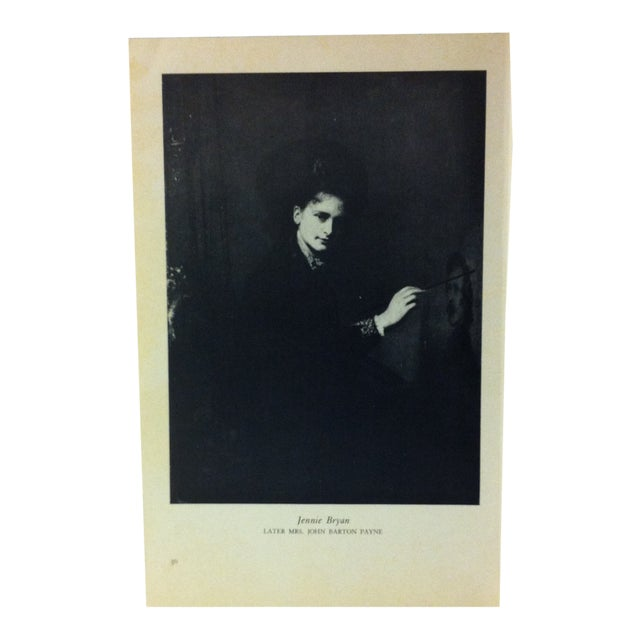 """1954 """"Jennie Bryan"""" Famous Figure of the 19th Century Print For Sale"""