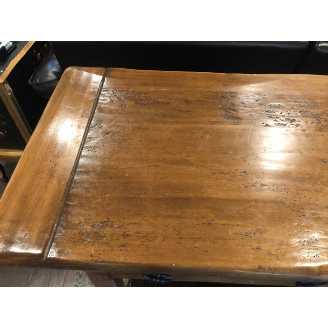 Wood Sofa Table - Solid Wood For Sale - Image 7 of 12