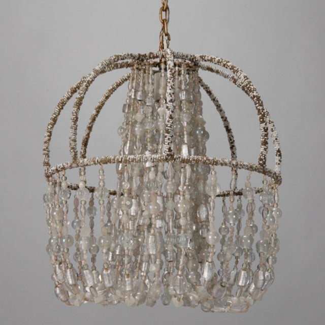 Circa 1900 Unusual All Beaded French Fixture - Image 2 of 5