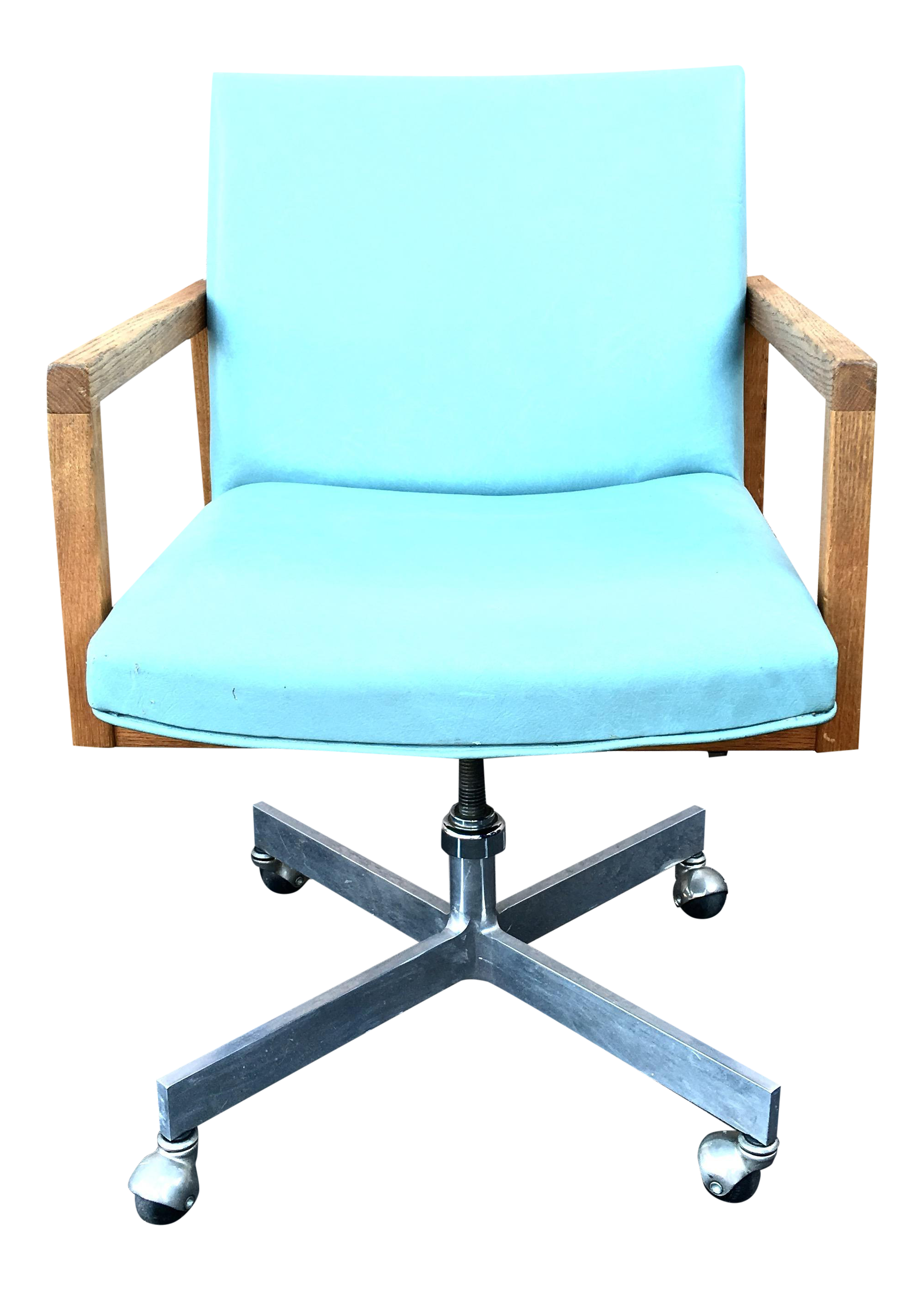 Mid Century Modern Seafoam Green Office Chair   Image 1 Of 7