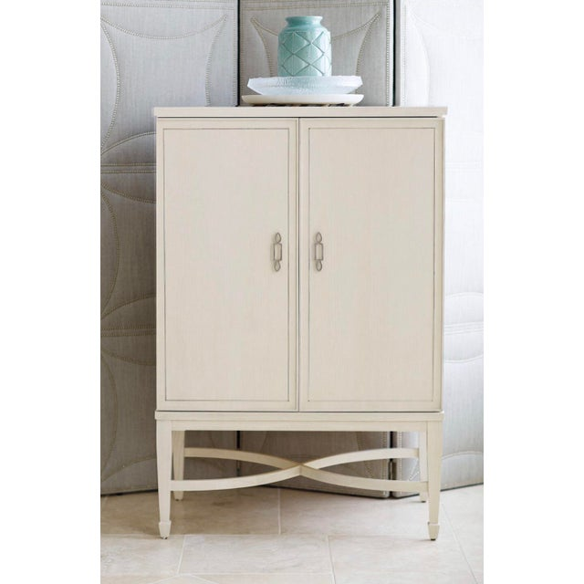 White Transitional Criteria Bar Cabinet For Sale - Image 8 of 9