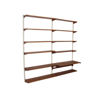 Kai Kristiansen Teak 2 Bay Wall Unit For Sale