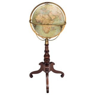 Terrestrial Globe on Stand by Wagner & Debes For Sale
