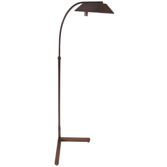 Modern Satin Bronze Pharmacy Lamp by Casella - Image 1 of 5