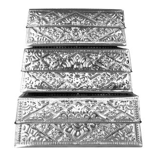 Brilliant Imports Aluminum Nesting Boxes - Set of 3 For Sale