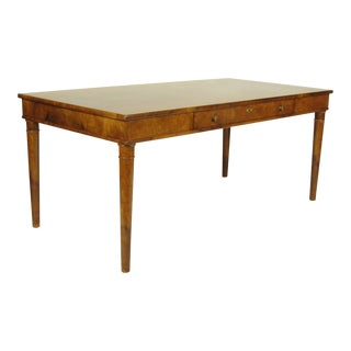 Directoire Style Burl Walnut Writing Table
