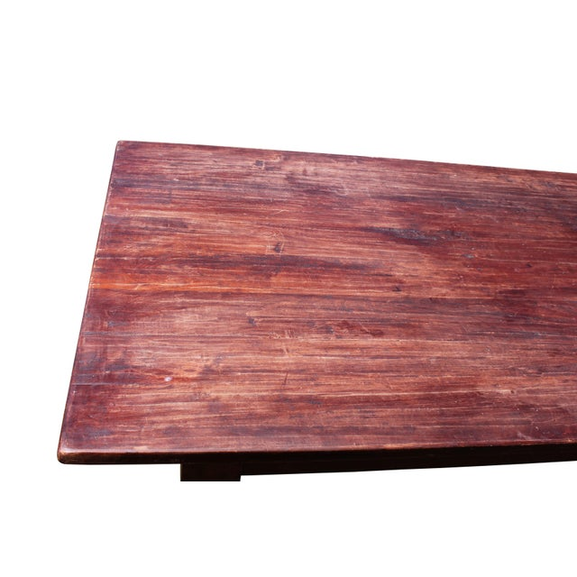 Large Rustic Farm Table For Sale - Image 10 of 12