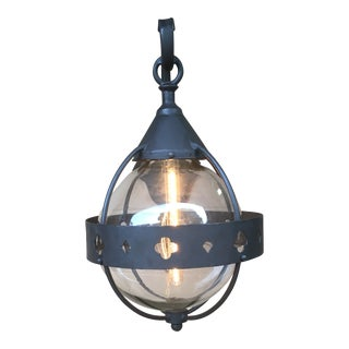 Wrought Iron Spanish Style Outdoor Wall Sconce For Sale