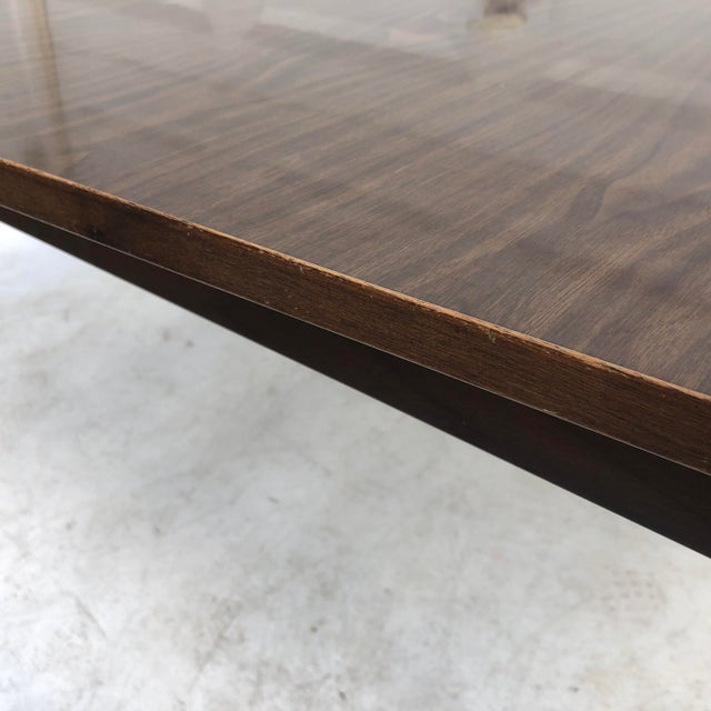 Mid-Century Modern Dining Table With Leaf For Sale - Image 10 of 11