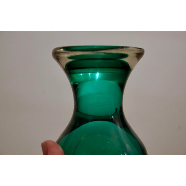 Emerald Green Glass Vase Chairish