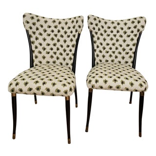 Mid Century Retro Sculptural Curves Chairs- A Pair For Sale