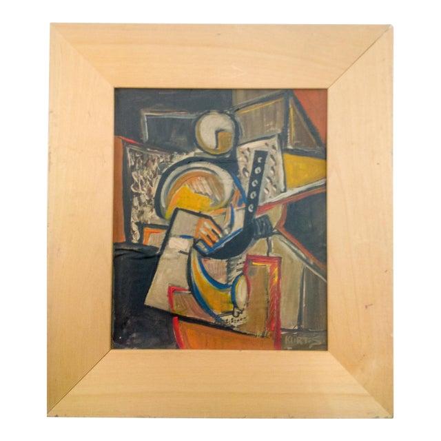 Cubist Portrait of Figure Painting by Kurt.S. For Sale