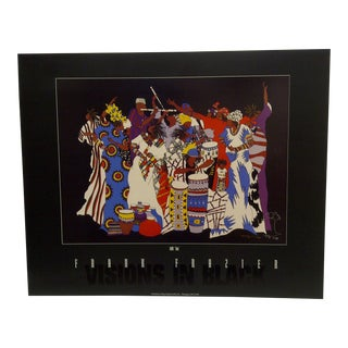 """1994 Limited Edition Signed Visions in Black """"Love Edo"""" Poster by Frank Frazier For Sale"""