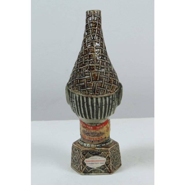 African African Benin Queen Mother Commemorative Ceramic Head by the Edo People For Sale - Image 3 of 10