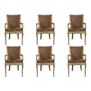Vintage Wood Solid and Sturdy Dining Chairs - Set of 6 For Sale