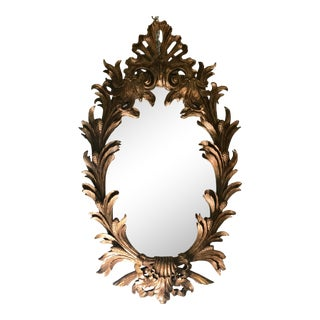Antique Elaborate Carved Rococo Style Gilt Wood Mirror For Sale