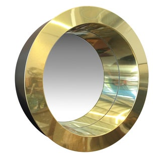 Curtis Jere Brass Porthole Mirror