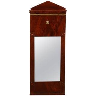 Danish Empire Mahogany Mirror For Sale