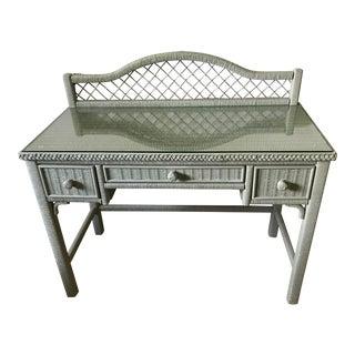 1980s Wicker Desk For Sale