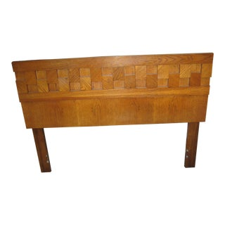 Mid-Century Paul Evans Brutalist Lane Headboard For Sale