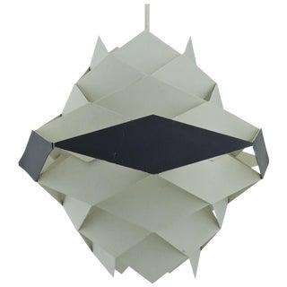 Danish Modern Pendant Lamp Post and Beam Kitchen Midcentury Cabin Geometric For Sale
