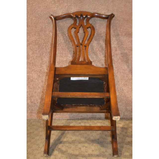 Vintage Ardley Hall Mahogany Chippendale Style Chairs - Set of 8 For Sale - Image 9 of 13