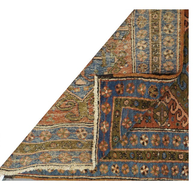 Islamic Antique Persian Heriz Rug - 3.1 x 10.3 For Sale - Image 3 of 3