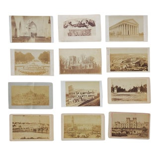 Antique Collection Grand Tour Architecture Cityscape Views Photographs - Set of 12 For Sale