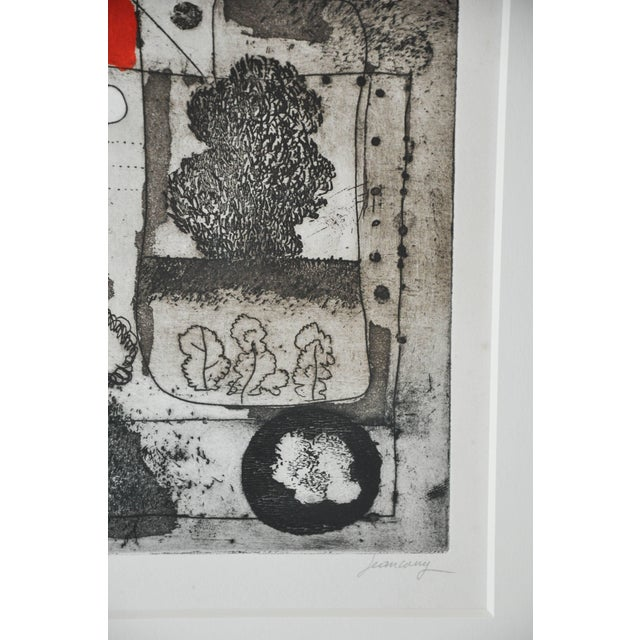 Mid-Century French Etching Untitled, Numbered and Signed For Sale In Chicago - Image 6 of 9