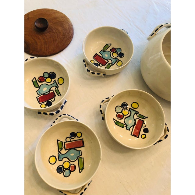 Vintage French Style Soup Set - 5 Piece Set For Sale - Image 9 of 10