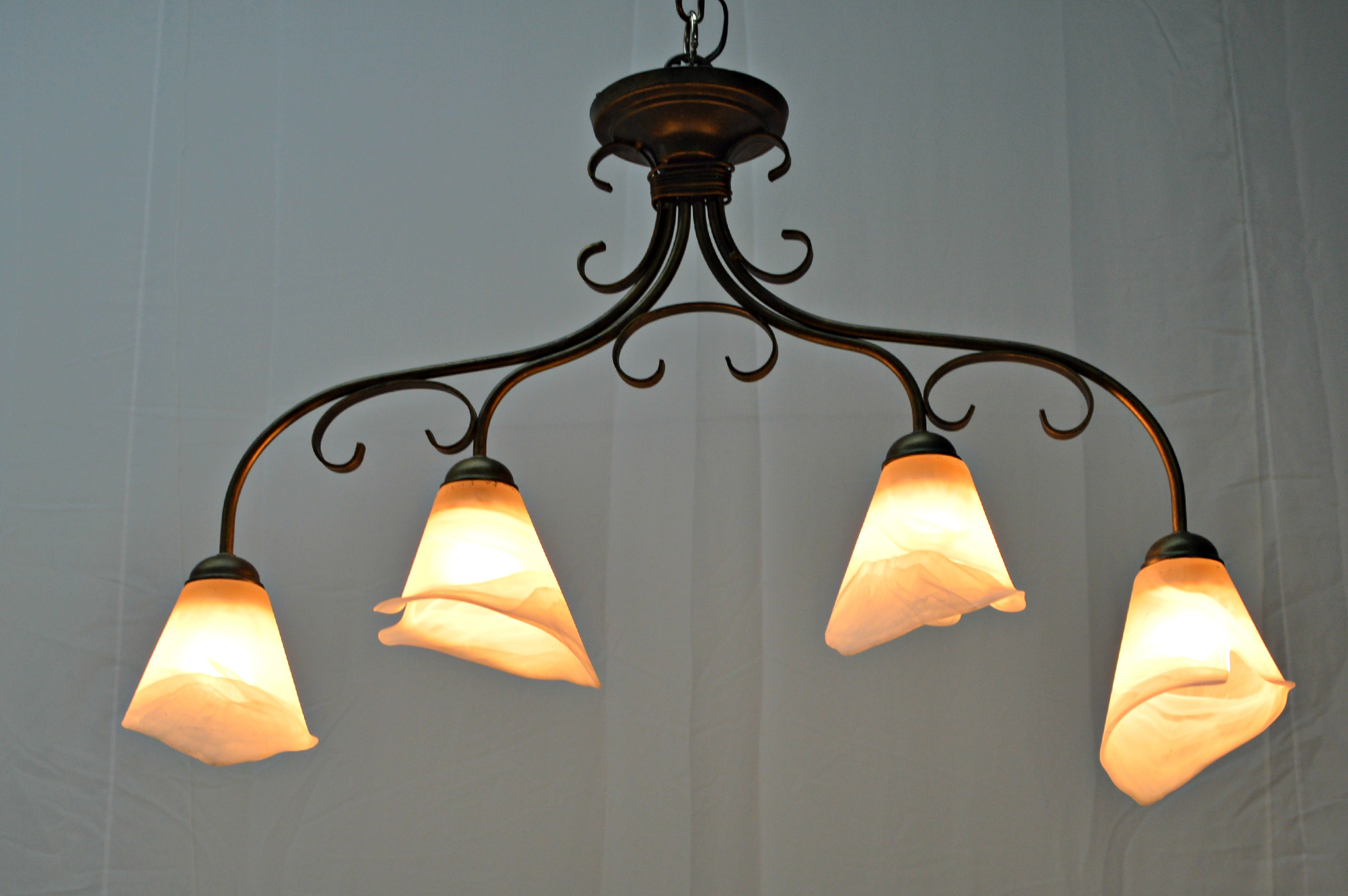 4 Light Calla Lily Chandelier For Sale In Miami Image 6 Of 8