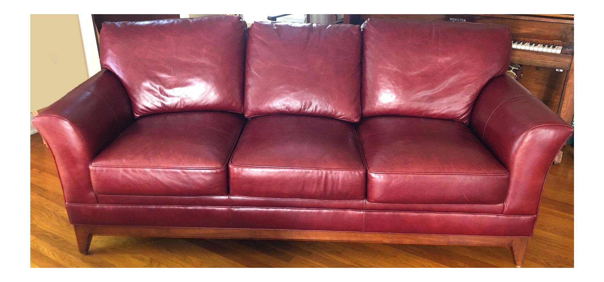 Stickley Keeler Leather Sofa