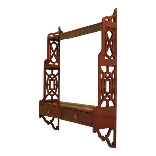 Biggs Chippendale Mahogany Hanging Shelf For Sale