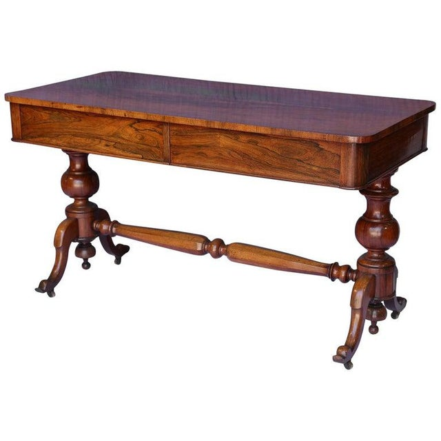 Antique English Console Table With Two Drawers For Sale - Image 13 of 13
