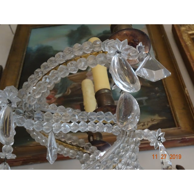 French Crystal Chandelier For Sale - Image 4 of 12