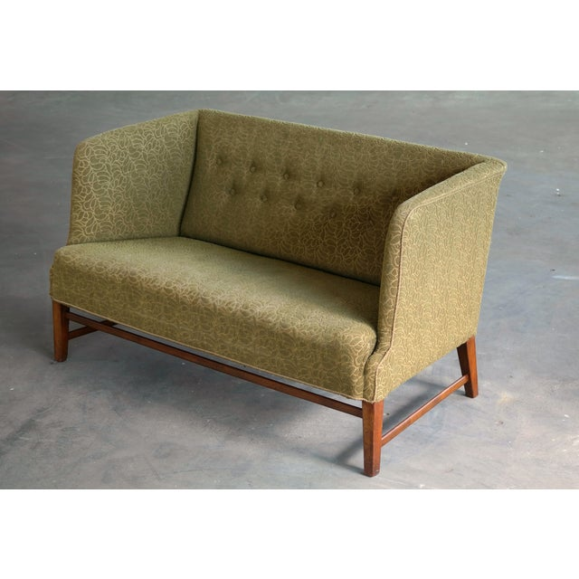 1930s Kaare Klint Style Danish Settee in Mahogany Attributed to Georg Kofoed For Sale In New York - Image 6 of 12