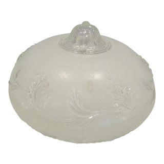Victorian Decorative Frosted Ceiling Light Globe For Sale