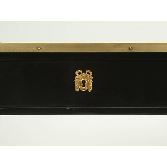 Black Antique French Louis XVI Style End or Side Table in an Ebonized Mahogany Finish For Sale - Image 8 of 10
